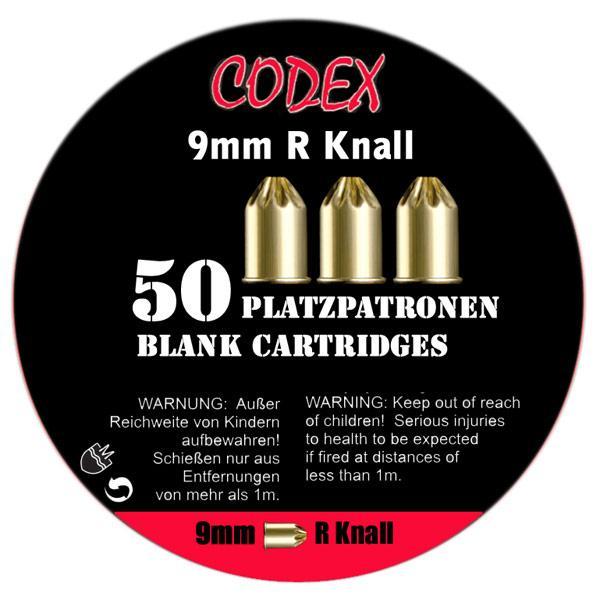 "9mm R Knall blank fire cartridges ""Codex"""