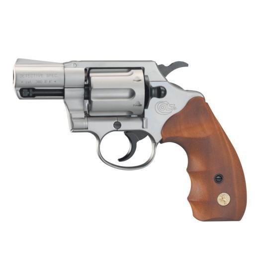 Alarmrevolver Colt Detective Special Nickel Wood 9mm R.K