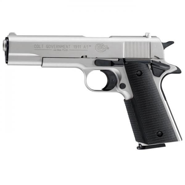 Colt Government 1911A1 nickel 9mm P.A.K