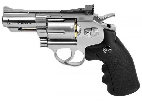 ASG Revolver Co2 Dan Wesson Silver 2,5`` 4,5mm Diabolo